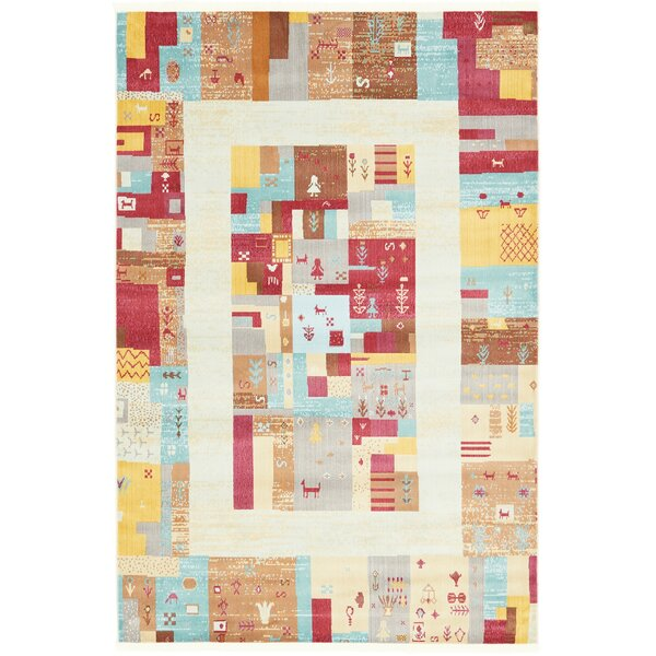 Rolling Hills Estates Yellow/Red/Brown Southwestern Area Rug by Bloomsbury Market