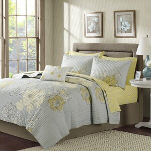 Nellie Complete Coverlet and Cotton Sheet Set