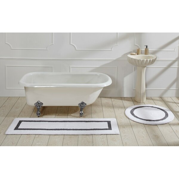 Brannan Hotel Cotton White/Gray Area Rug by August Grove