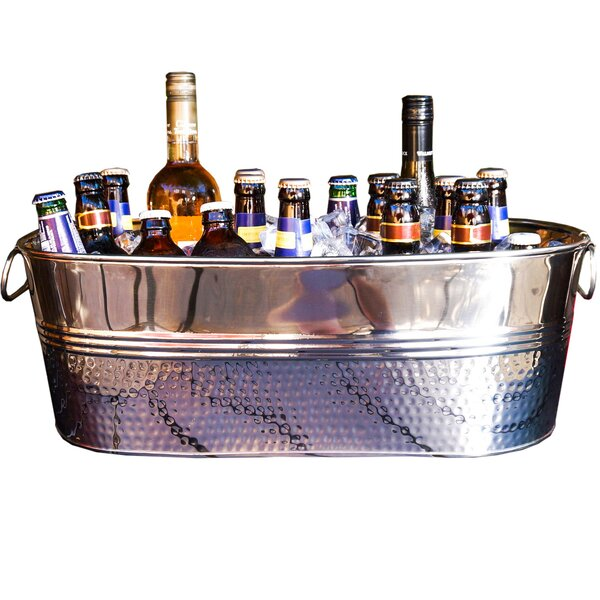 Norberto Hammered Party Wine Chiller Beverage Tub by Charlton Home