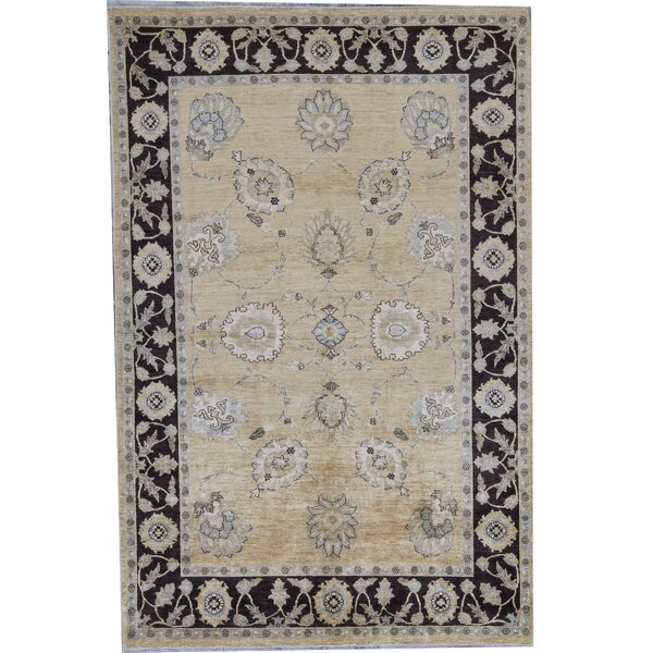 Ziegler Oriental Hand-Knotted Wool Gold/Brown Area Rug