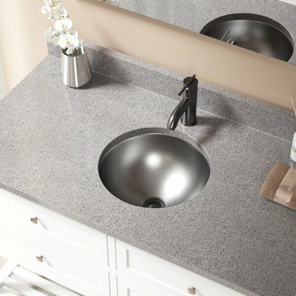 Circular Dual-Mount Bathroom Sink and Overflow by MR Direct
