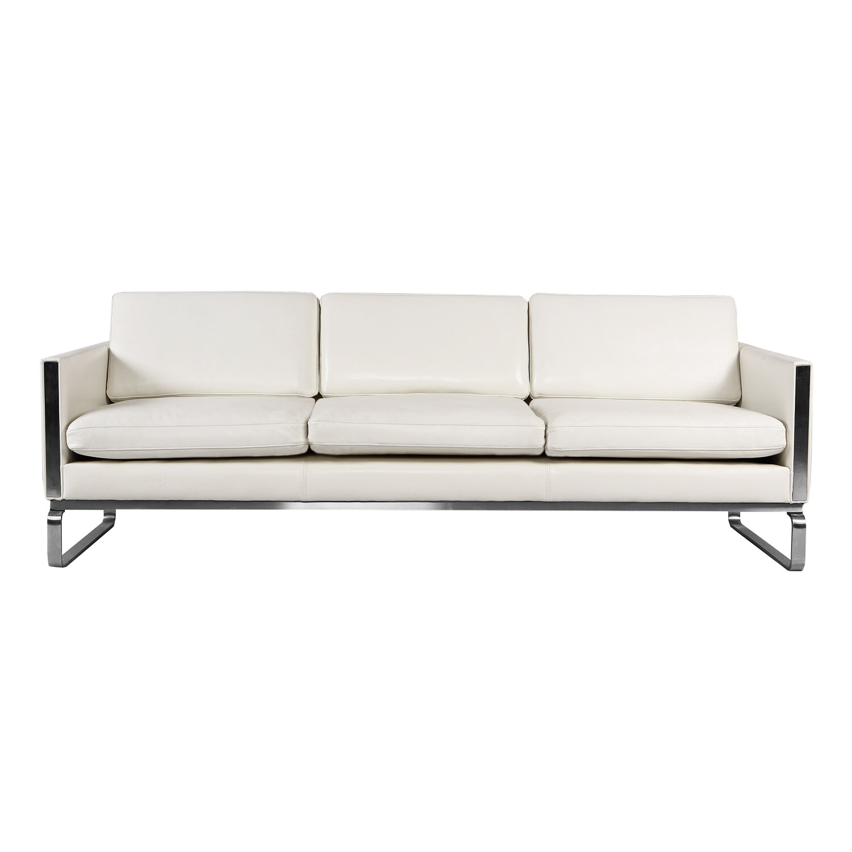 Terrific Aina Mid Century Modern Leather Sofa Bralicious Painted Fabric Chair Ideas Braliciousco