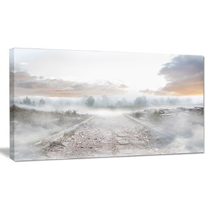 'Stony Path to Misty Forest' Graphic Art on Wrapped Canvas by Design Art