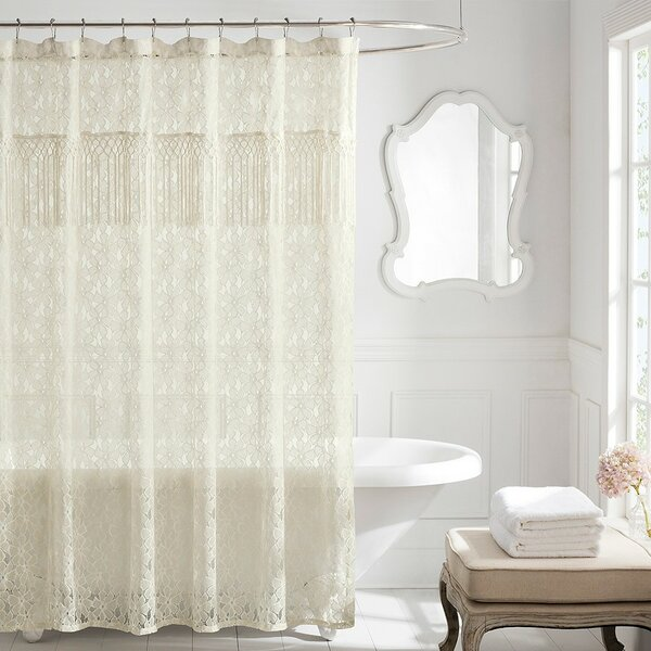 Hoehn Cotton Shower Curtain by Bungalow Rose