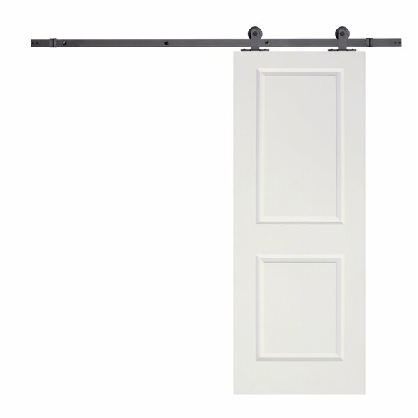 MDF 2 Panel Primed Interior Barn Door by Calhome