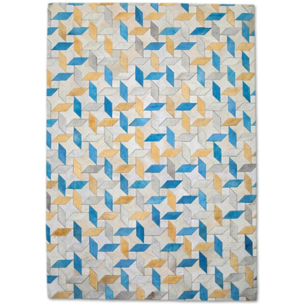 Yellow/Blue Area Rug by Modern Rugs