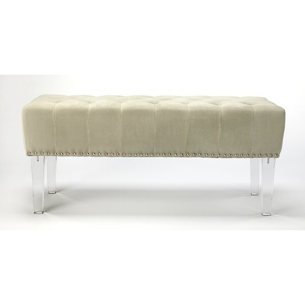 Cindy Upholstered Bench by House of Hampton House of Hampton