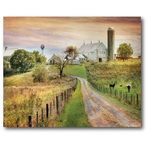 Country Road Painting Print on Canvas by Courtside Market