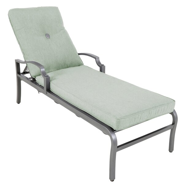Konevsky Aluminum Reclining Chaise Lounge with Cushion by Red Barrel Studio