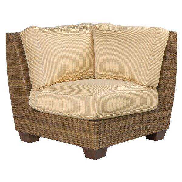 Saddleback Corner Patio Chair with Cushions by Woodard