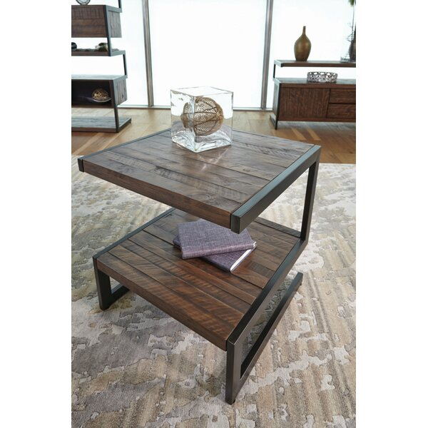 Margene Rectangular End Table by 17 Stories