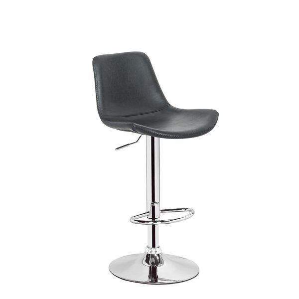 Gretna Adjustable Height Swivel Bar Stool by Orren Ellis
