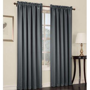 Groton Solid Room Darkening Rod Pocket Single Curtain Panel