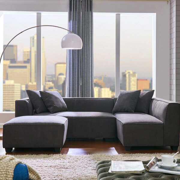 Best #1 Daria Right Hand Facing Modular Sectional With Ottoman By Modern Rustic Interiors Wonderful