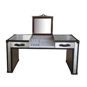 Dietrich Vanity with Mirror by Lazzaro Leather