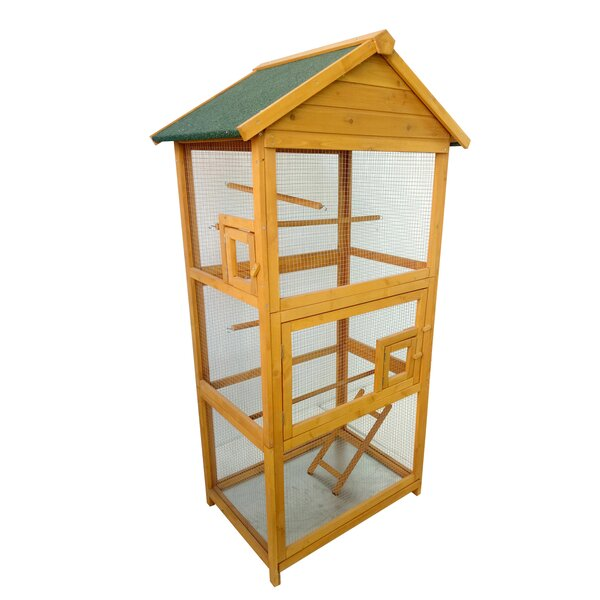 Wood Bird Cage by Lovupet