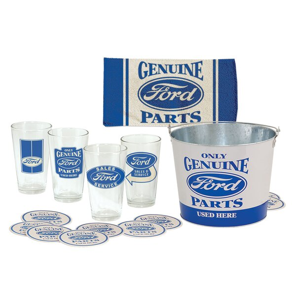 18 Piece Glass Pint Glass Set by Ford
