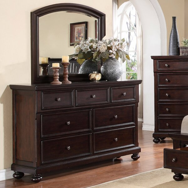 Jaimes 7 Drawer Dresser with Mirror by Breakwater Bay
