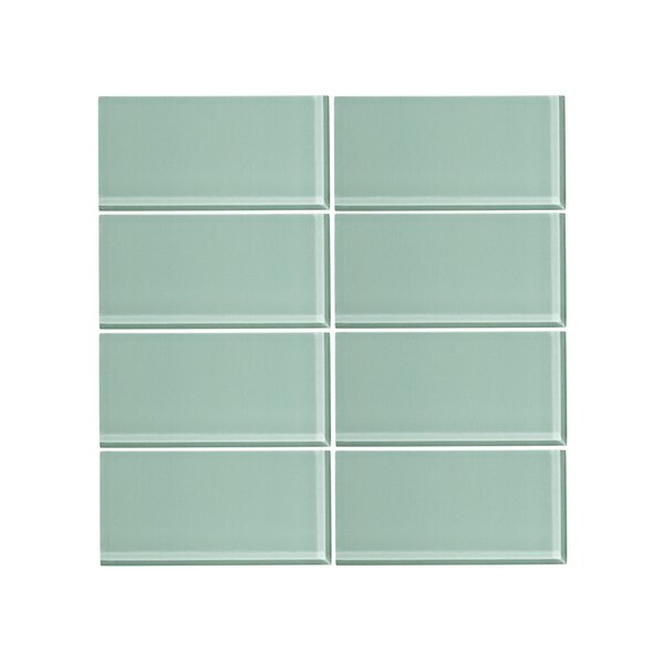 3 x 6 Glass Subway Tile in Wintermint (Set of 6) by Vicci Design
