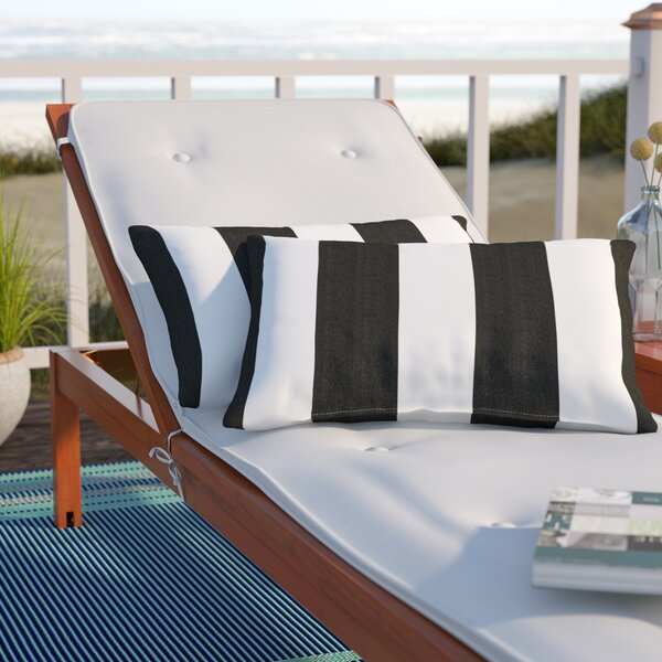 Stonebridge Indoor/Outdoor Sunbrella Lumbar Pillow (Set of 2) by Beachcrest Home