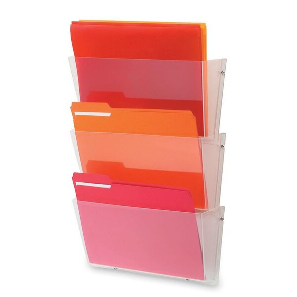 Unbreakable Wall File Set, Letter, Three Pockets, Clear by Deflect-O Corporation