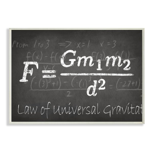 Law Of Universal Gravity Textual Art by Stupell Industries