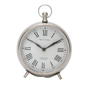 Round Metal Table Clock