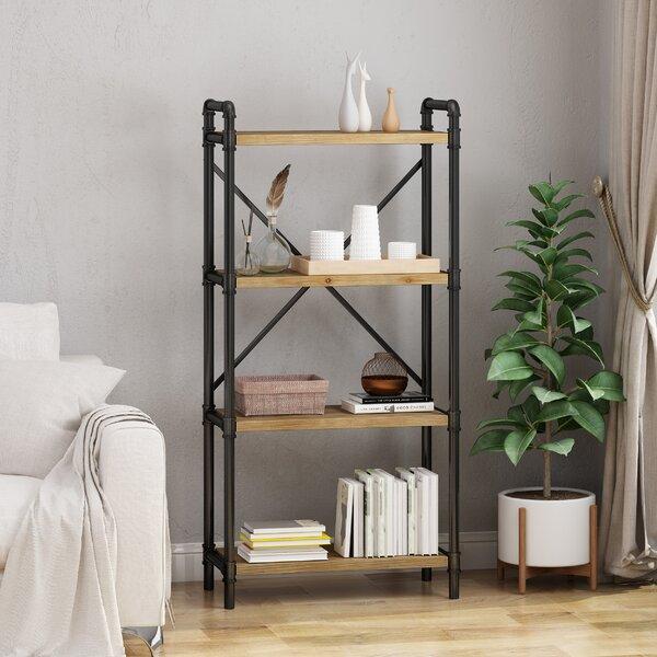 Review Yareli Iron 4 Shelf Etagere Bookcase