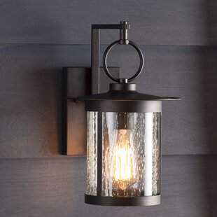 Outdoor wall lights flush mounts birch lane lavardens 1 light outdoor wall lantern aloadofball