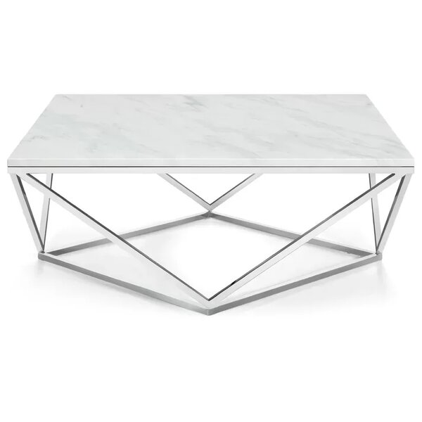 Plutarch Marble Coffee Table by Wrought Studio