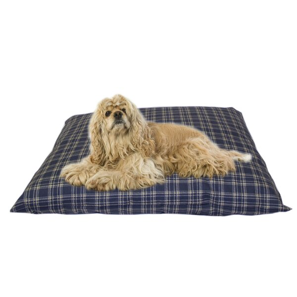 Cheryl Indoor/Outdoor Shegang Dog Bed in Blue Plai