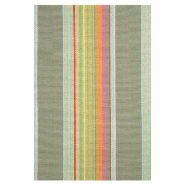 Hand Woven Cotton Green Area Rug by Dash and Albert Rugs