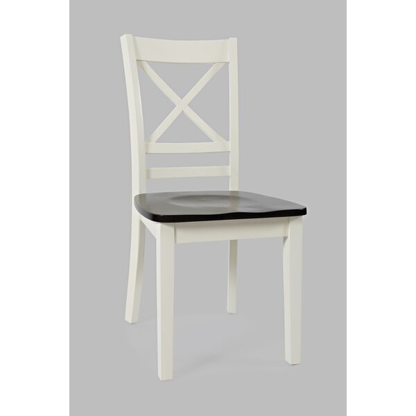 Jagger X Back Solid Wood Dining Chair (Set of 2) by Breakwater Bay