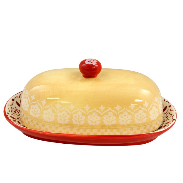 Hollydale Hand Painted Butter Dish by Gibson