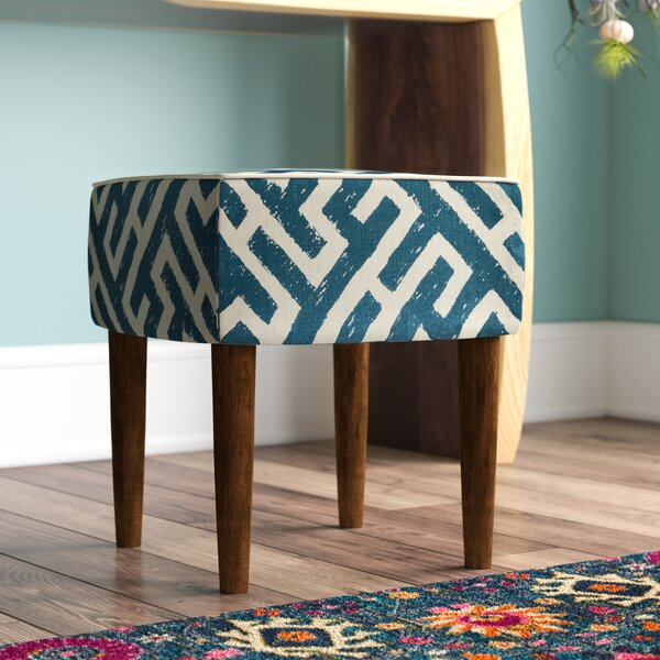 Noe Lattice Upholstered Vanity Stool by Langley Street