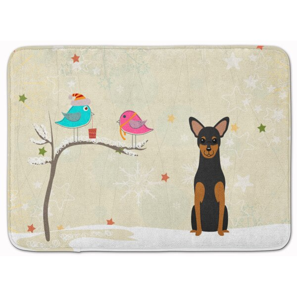 Christmas Presents Manchester Terrier Memory Foam Bath Rug by The Holiday Aisle