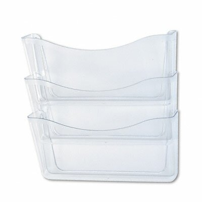 Unbreakable Three-Pocket Wall File Set,  A4/Letter, Clear by Rubbermaid