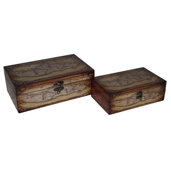 2 Piece Wooden Box Set by Cheungs