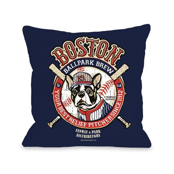Doggy Décor Boston Brew Throw Pillow by One Bella Casa