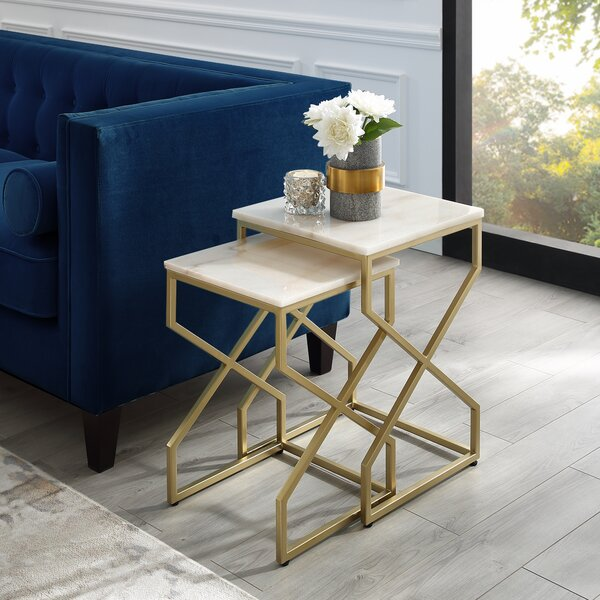 Jayceon Square 2 Piece Nesting Tables by Everly Quinn