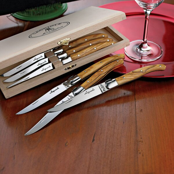 Laguiole Steak Knife Set (Set of 6) by Jean Dubost
