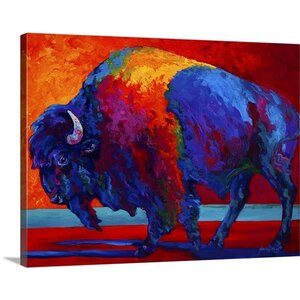 Abstract Bison by Marion Rose Painting Print on Wrapped Canvas by Great Big Canvas
