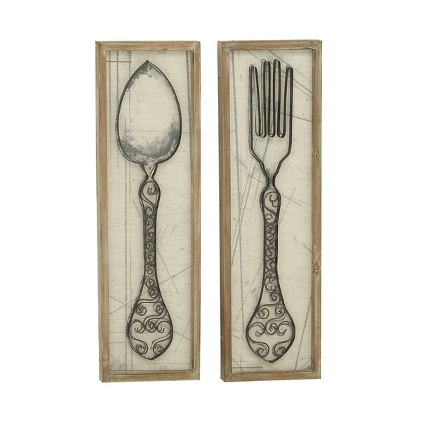 Lovely Large Spoon And Fork Wall Decor | Wayfair HK08