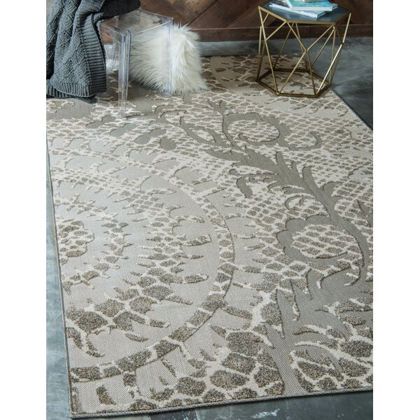 Annice Cream Indoor/Outdoor Area Rug by Ebern Designs