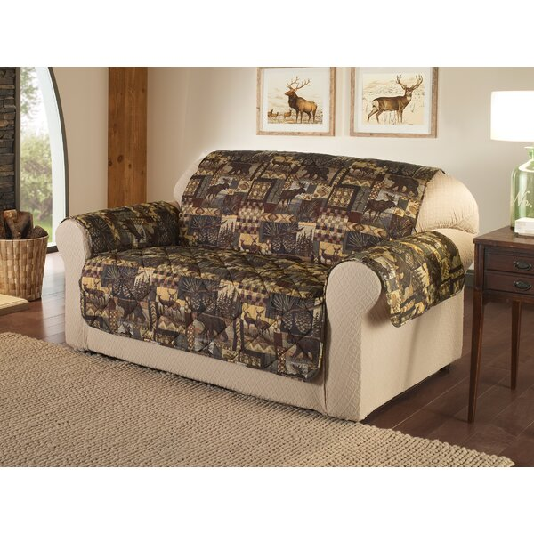 Box Cushion Loveseat Slipcover By Millwood Pines