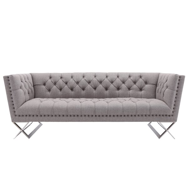 Borchert Contemporary Chesterfield Sofa by Willa Arlo Interiors