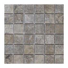 Philadelphia 2 x 2 Travertine Mosaic Tile in Dark Gray by Seven Seas