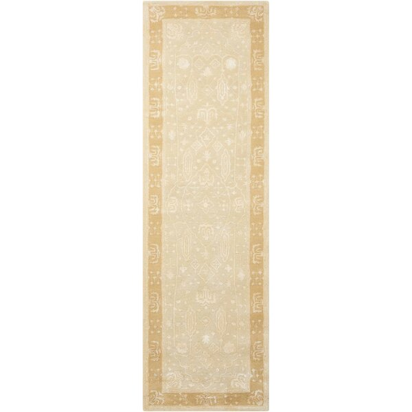 Veda Hand-Tufted Gold Oak Area Rug by Bloomsbury Market