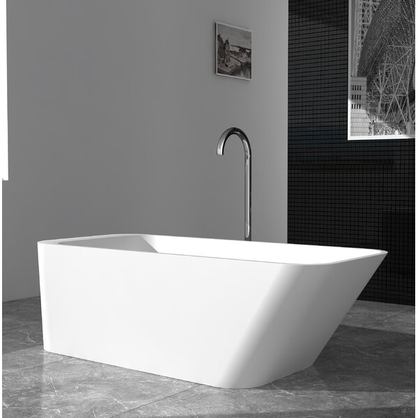 Marco Solid Surface 67 x 29.5 Freestanding Soaking Bathtub by Cheviot Products
